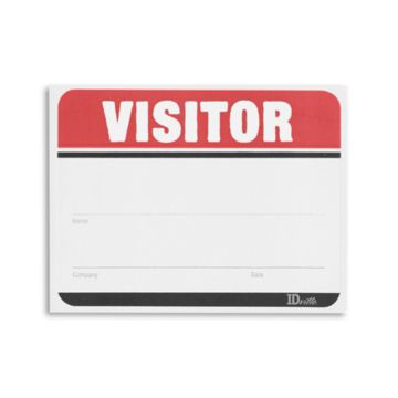 Adhesive Fill in the Blank Visitor Labels