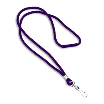 Round Woven Blank Polyester Lanyards with Breakaway