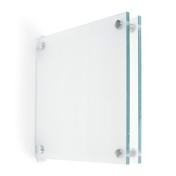 """8.5"""" x 8.5"""" ClearLook Flag Wall Mount with Standoffs"""