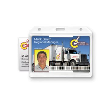 Rigid Two Sided Horizontal Open-Face Badge Holder