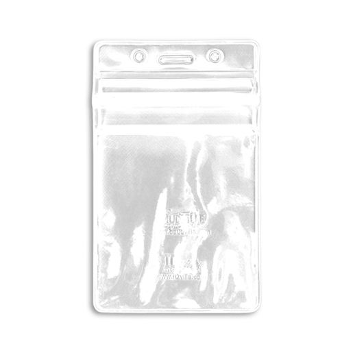 Vertical Sealable Badge Holder