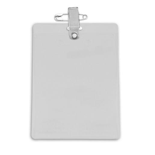 Clear Vinyl Vertical Event Badge Holder