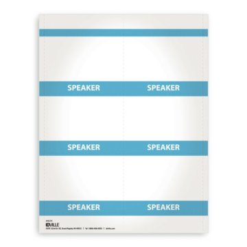 Printable Event Name Badge Stock - Speaker