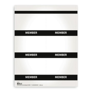Printable Event Name Badge Stock - Member