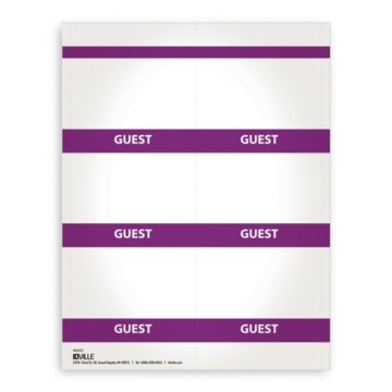 Printable Event Name Badge Stock - Guest