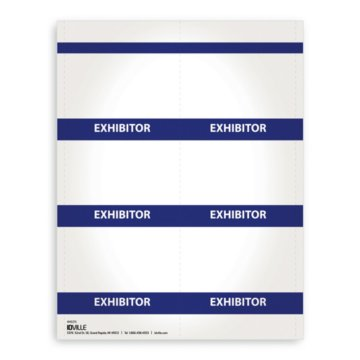 Printable Event Name Badge Stock - Exhibitor