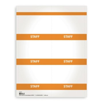 Printable Event Name Badge Stock - Staff