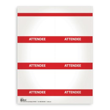 Printable Event Name Badge Stock - Attendee