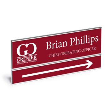 Double Plate Wall Mount Engraved Nameplate