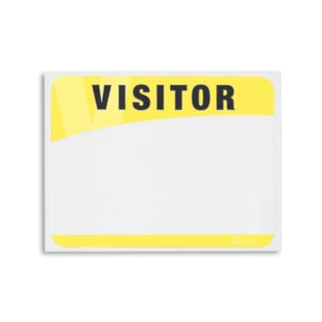 Blank Adhesive Visitor Labels