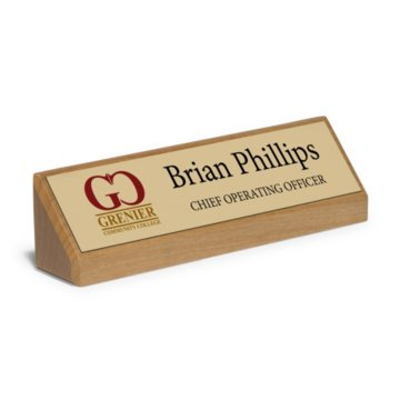 Executive Desktop Full Color Nameplate