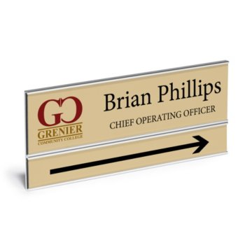 Double Plate Wall Mount Full Color Nameplate