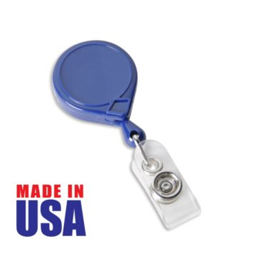 Made in the USA Blue Round Badge Reel