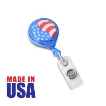 Made in the USA Patriotic Badge Reel