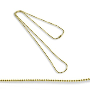 Metallic Gold Beaded Neck Chain