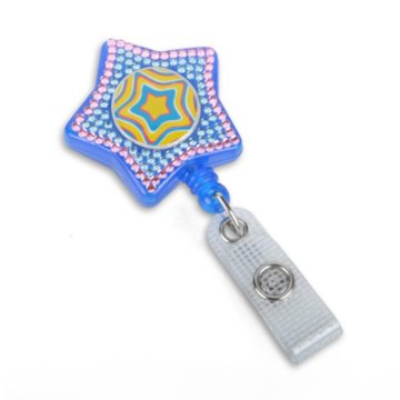 Star Fashion Badge Reel with Sparkles
