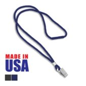 Made in the USA Blank Round Woven Lanyard with Breakaway Release