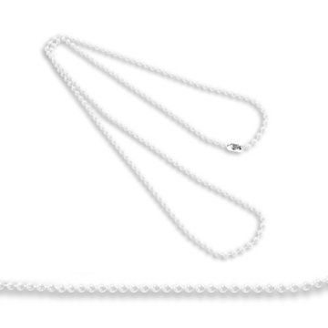 Plastic White Beaded Neck Chain