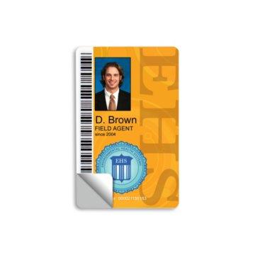 10 mil Adhesive Back Plastic Card