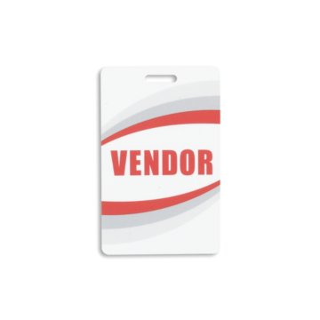 Vendor Preprinted PVC Plastic Card
