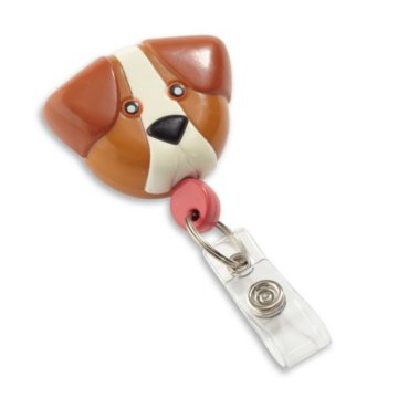 Dog Shaped Badge Reel