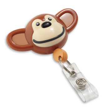 Monkey Shaped Badge Reel