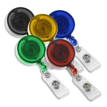 Round Translucent Color Badge Reel Variety Pack