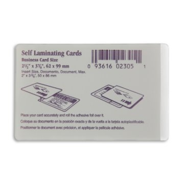 Business Card Size ID Cold Laminate