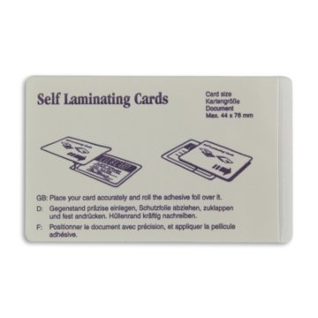 Credit Card Size ID Cold Laminate