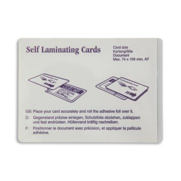 Name Badge Card Size ID Cold Laminate
