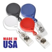 Made in the USA Round Solid Color Badge Reel Variety Pack