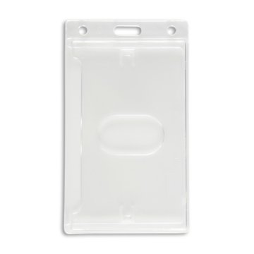 Vertical Hard Plastic Badge Holder