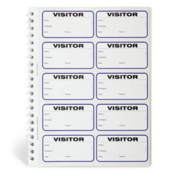 Spiral-bound Temporary Visitor Login Book