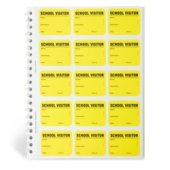 Spiral-bound Temporary School Visitor Login Book