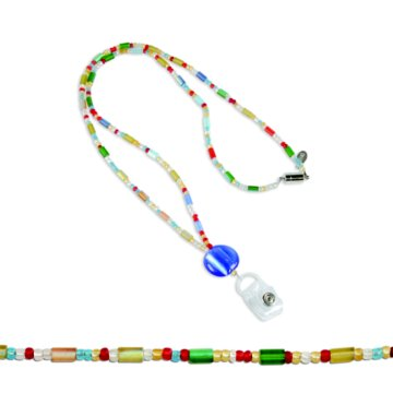 Frosted Fun Fashion Beaded Lanyard