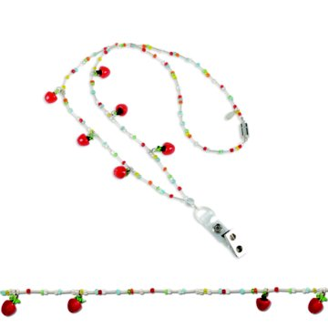 Apple A Day Fashion Beaded Lanyard