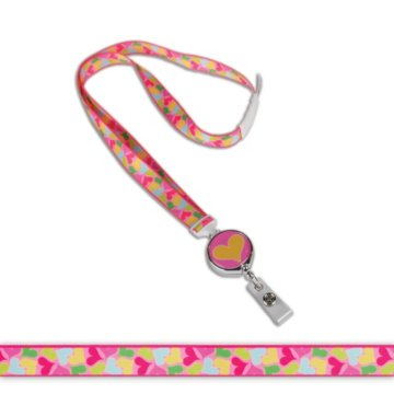 Fun Hearts Fashion Retractable Lanyard