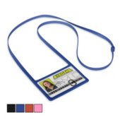Flexible Silicone Lanyard Horizontal Badge Holder