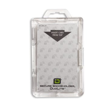 Clear RFID Secure Badge Holder