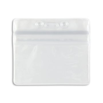 Clear Horizontal Sealable Badge Holder