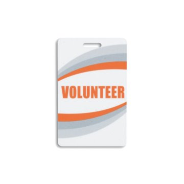 Volunteer Preprinted Plastic Card