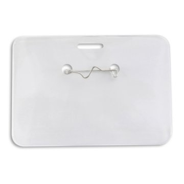 Clear Vinyl Horizontal Badge Holder Credit Card Size