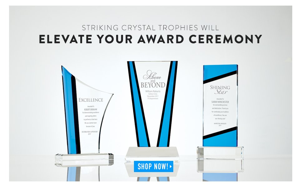 Striking Crystal Trophies Will Elevate Your Award Ceremony