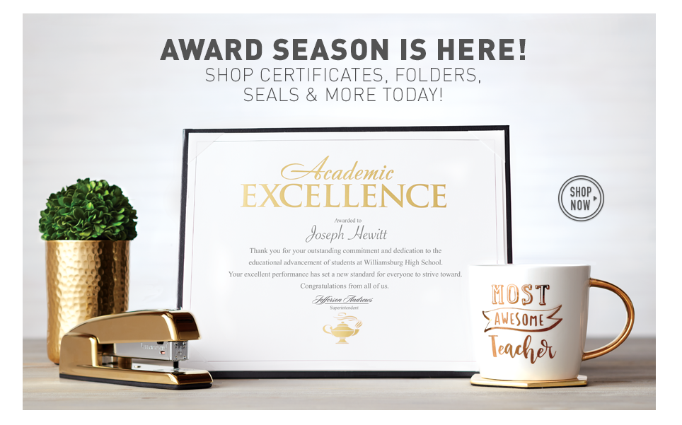 Award season is here! Shop all certificates.