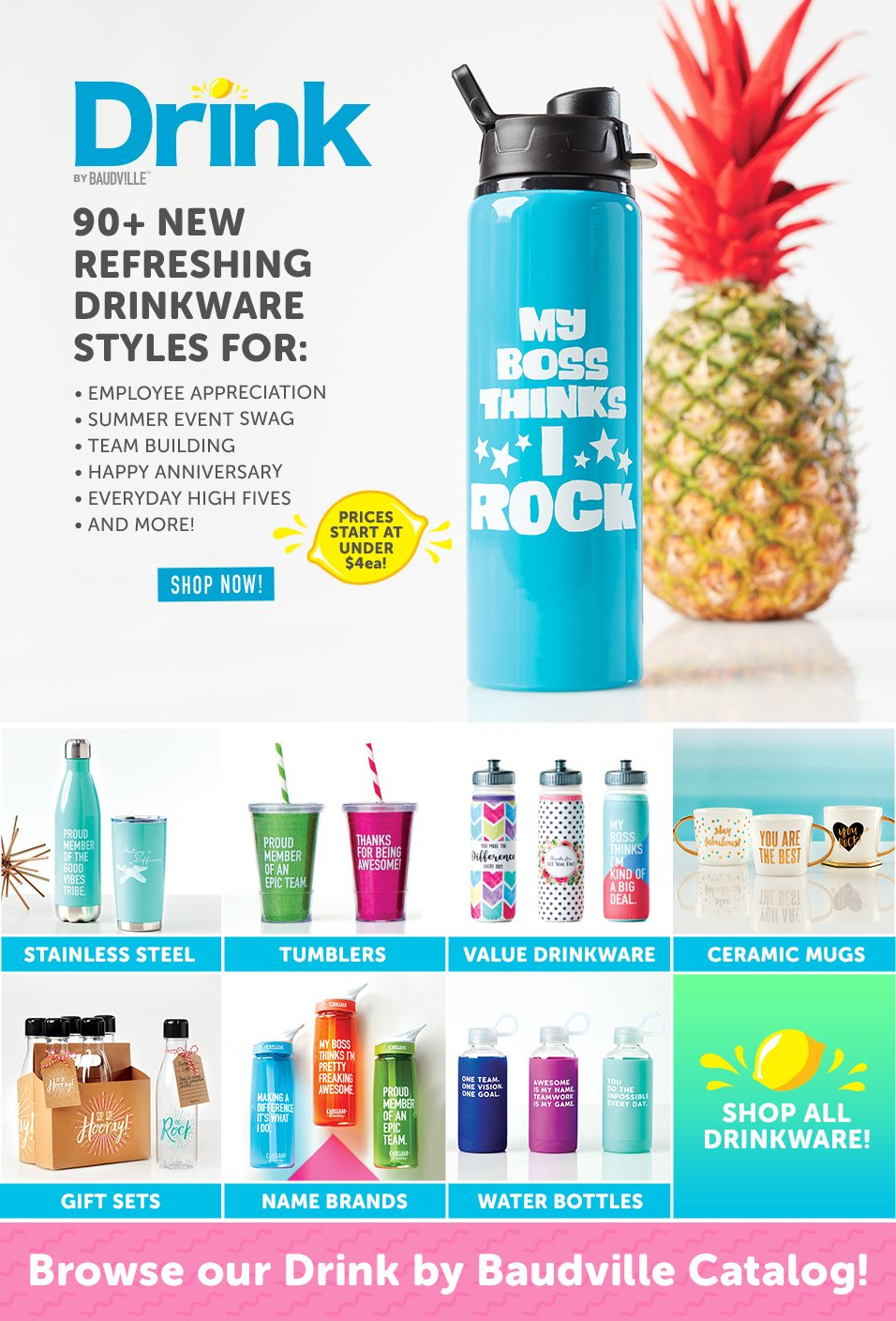 Over 90 New Employee Gift Drinkware Styles