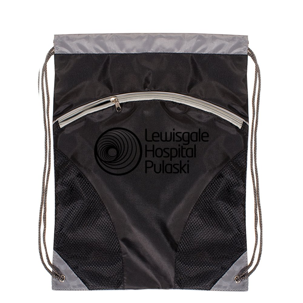 Zip Front Drawstring Backpack