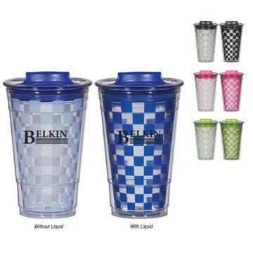 Color Changing Checkered Travel Mug