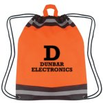 Reflective Safety Non-Woven Drawstring Backpack