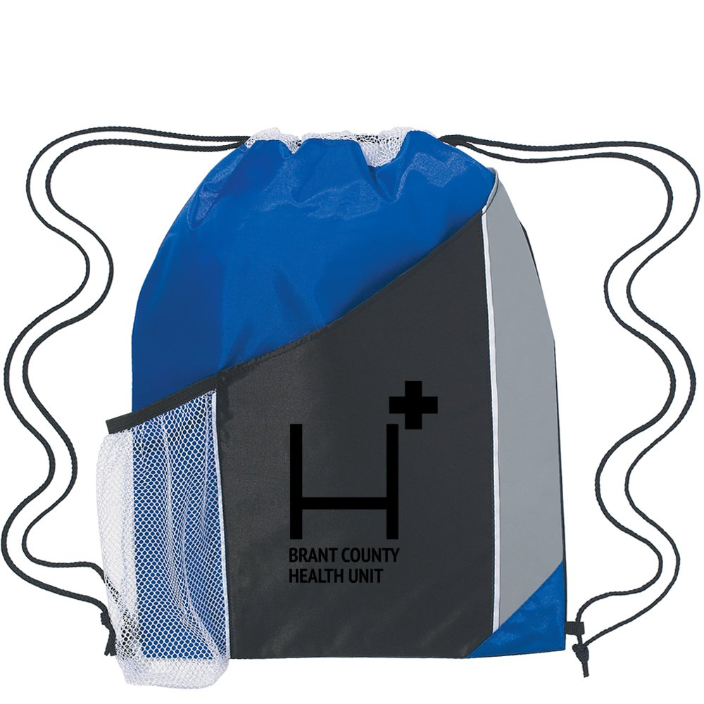 Tri-Color Drawstring Backpack