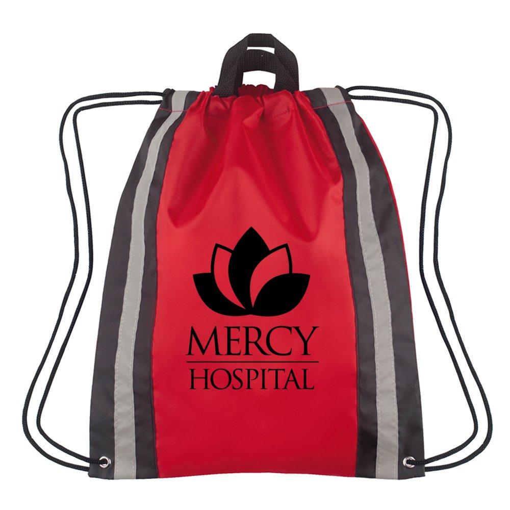 Reflective Safety Drawstring Backpack